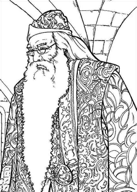 harry potter coloring pages dumbledore master of harry potter coloring pages color