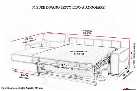 dimensioni divano letto divano letto con penisola contenitore vama divani