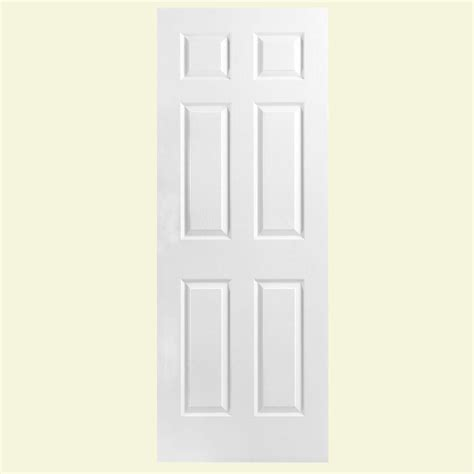 32x78 Exterior Door Masonite 32 In X 78 In Textured 6 Panel Hollow Primed Composite Interior Door Slab 438809