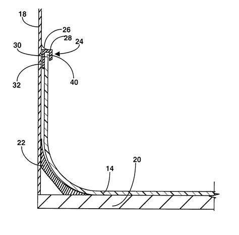Patent US6401418   Coving method for tubs and showers