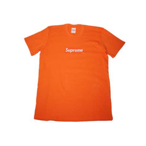 supreme box logo supreme box logo t shirt orange