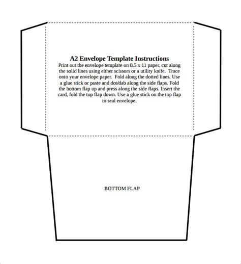 a2 card template a2 envelope template word