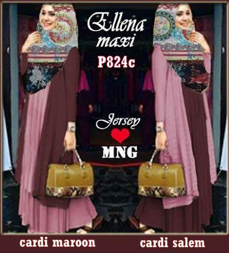 Dress Wilona Pink gamis modern ellena maroon dusty pink p824c model terbaru