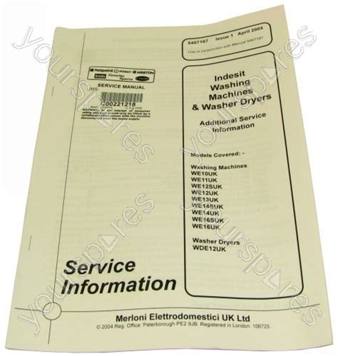 indesit we16uk service manual c00221218 by indesit