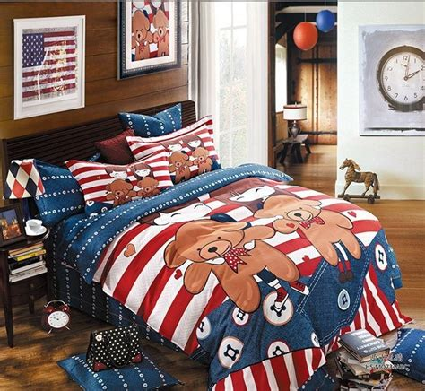 cute queen bedding kids teddy bear bedding set cute queen size cartoon duvet