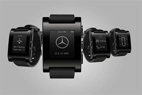 Smartwatch Pebble mercedes and pebble technology unveil a car connected smartwatch digital trends
