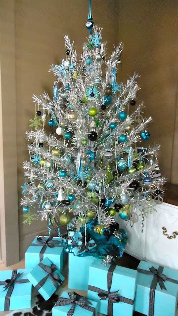 christmas trees tourquoise and silver blue decor amazing design for less