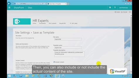 How To Save A Site As A Template In Sharepoint 2016 Youtube Template Sharepoint 2016