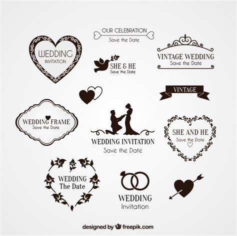 Wedding Vector by Elements For Wedding Invitation Vector Free