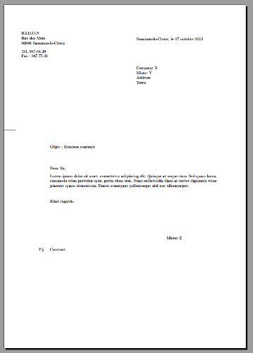 Enclosure At End Of Letter