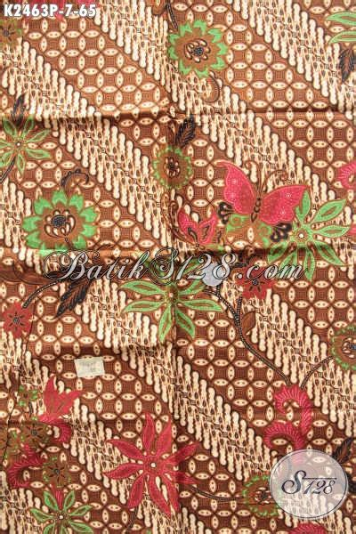 kain batik modern klasik motif parang bunga kupu bati