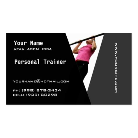 personal trainer business cards templates personal trainer business cards zazzle