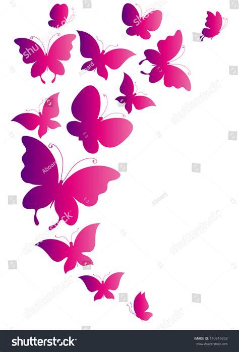 wallpaper butterfly pink vector butterflies designpink background stock vector 140814658