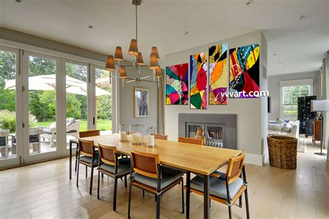 piece colorful home decor abstract canvas wall art