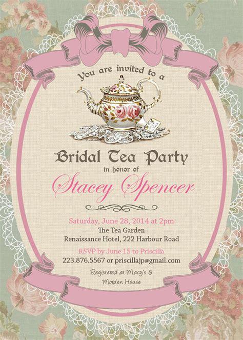 bridal tea invitations uk vintage tea baby shower invitations yourweek