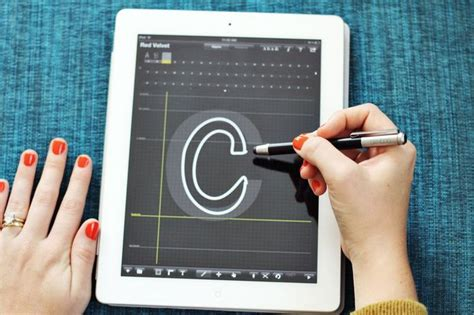 font design ipad making fonts with ifontmaker app silhouette pinterest