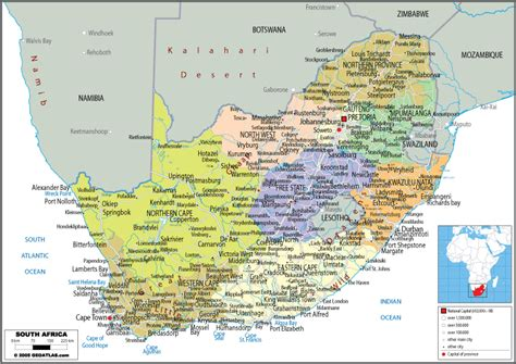 free printable road maps south africa calendar map of south africa