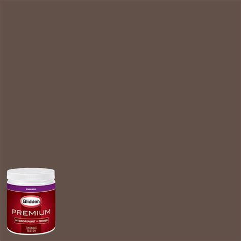 glidden premium 8 oz hdgwn13u authentic brown eggshell interior paint with primer tester