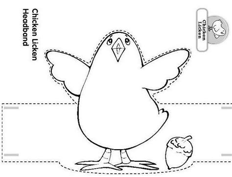 chicken licken coloring page craft a chicken licken headband d easter fun