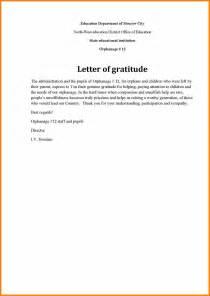 Employment Gratitude Letter 7 Letter Of Gratitude Sles Sephora Resume