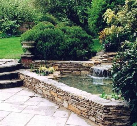 landscaping and outdoor building raised ponds stone raised ponds with waterfall ponds