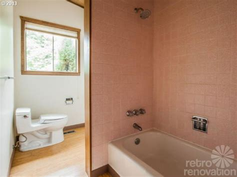 Modern Pink Tile Bathroom Midcentury Modern Time Capsule House In Portland Oregon
