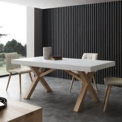 table extensible de salle 224 manger blanche en bois massif