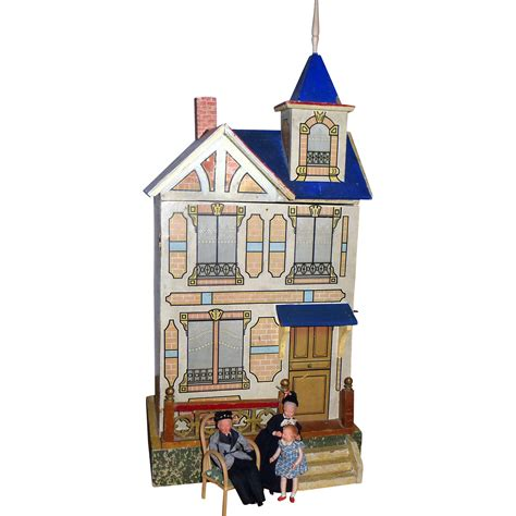 roof design doll house antique gottschalk dollhouse blue roof from luisa27 on
