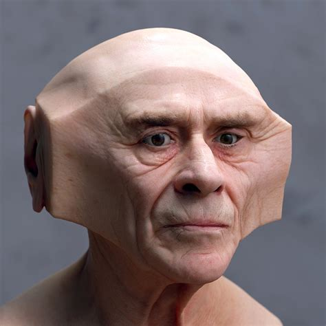 a square faced person lee griggs forms facial deformations with geometrically