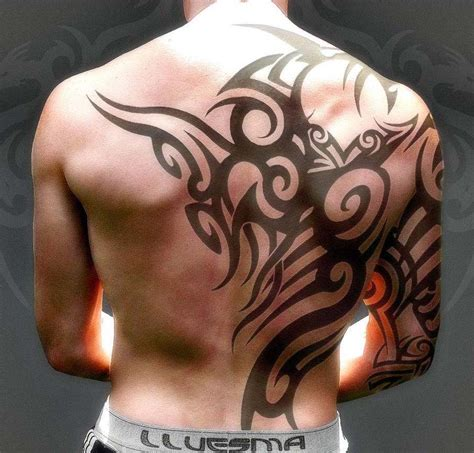 upper back tattoos for men tribal celtic tattoos design back only tattoos