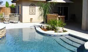Beach House Design Ideas by Greecian Pools Bakersfield Ca Walk In Beach Entry Pools