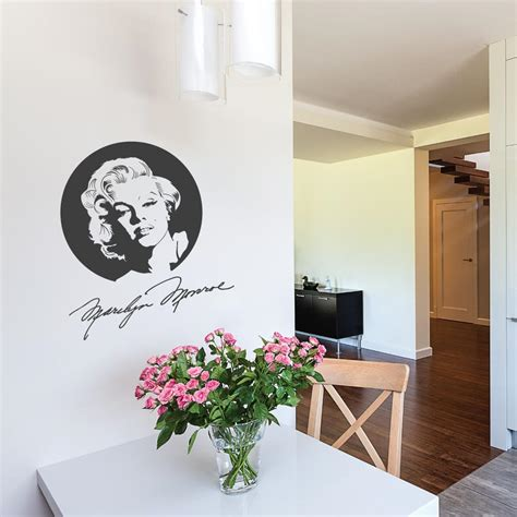 wall stickers marilyn marilyn with signature wall sticker by wallboss wallboss wall stickers wall
