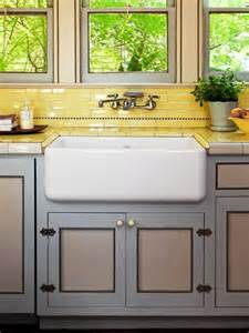 sinks yellow tile and vintage on