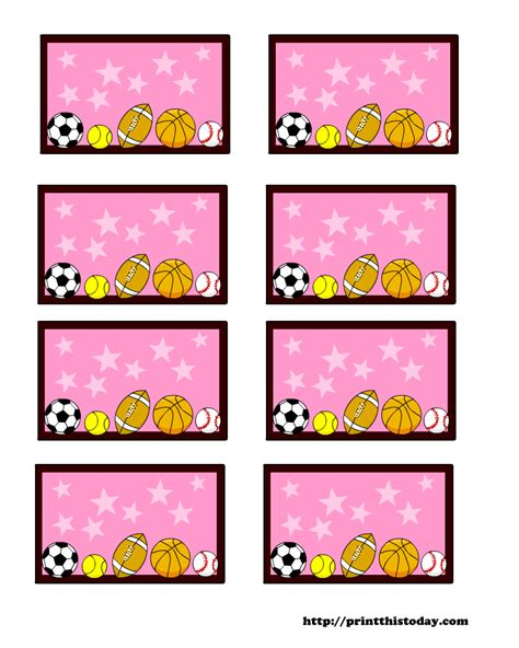 baby shower labels template sports themed baby shower labels templates