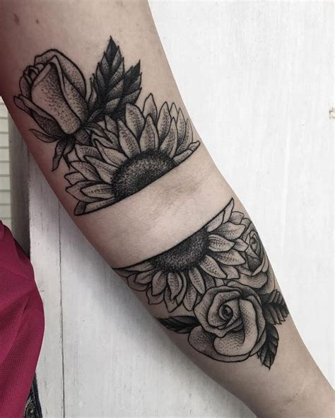 sunflower rose tattoo 46 best tattoos images on ideas tatoos