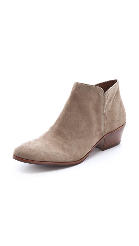 sam edelman boot sam edelman petty suede booties putty in gray putty lyst