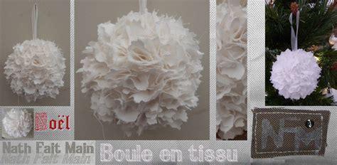 Tuto Boule De Noel En Tissu by Boule De No 235 L En Tissus Nfm Nath Fait