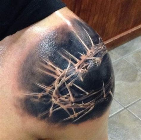 thorn cross tattoo crown of thorns tattoos tattoofanblog