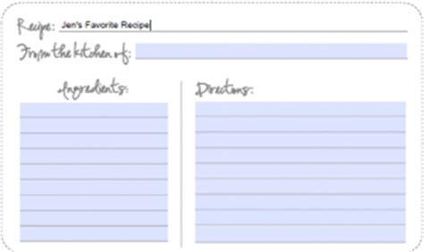 blank recipe cards target printable fill in online kitchen recipe cards more tip