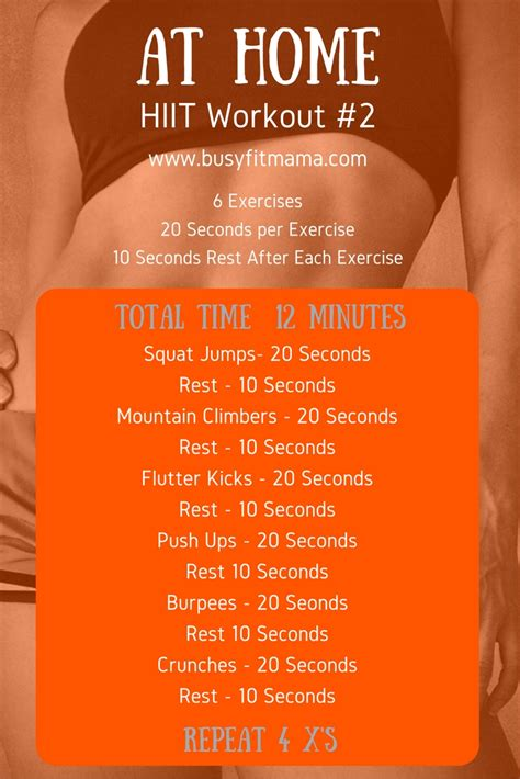 10 minute hiit workout at home workout routines