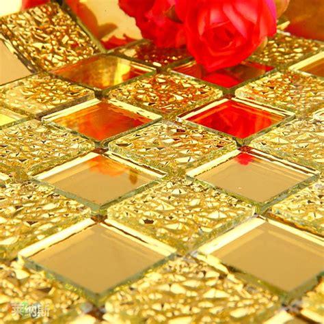 gold crystal floor wholesale mosaic tile crystal glass backsplash dining room