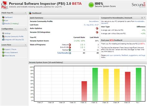 programs secunia auto update your programs secunia psi 2 0 public beta