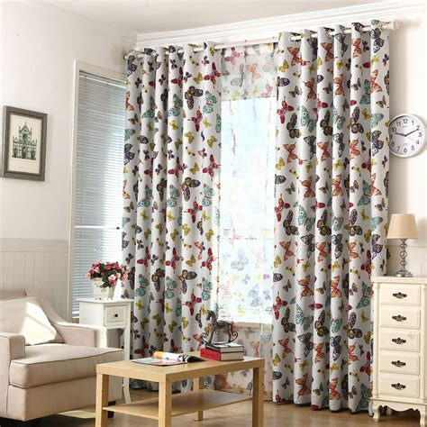 butterfly bedroom curtains butterfly style window curtains for boy girl bedroom