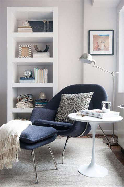Living Room Chair Ideas Modern Gray Lounge Chair With White Coffee Table And Curved Floor L In A Living Room