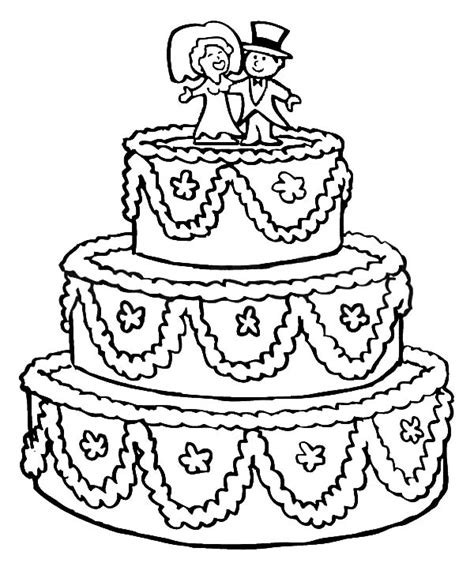 coloring page wedding cake free coloring pages of cake bride