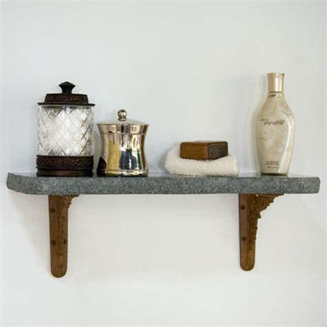 Black Marble Shelf by Polished Chiseled Edge Granite Shelf Black Rust Arrow