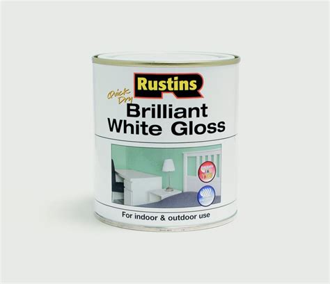 drying exterior paint rustins white gloss paint in 250ml 500ml for