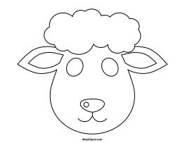 new year sheep mask template printable mask to color projects