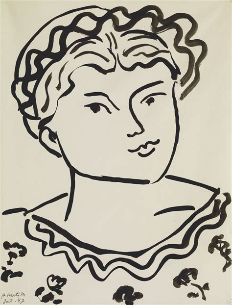 henri matisse drawings 0500093288 henri matisse 1869 1954 t 234 te d une jeune fille 1940s drawings watercolors christie s
