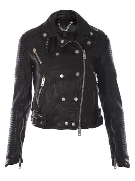 Burberry Leather Quilted Jacket by Burberry Prorsum Quilted Leather Biker Jacket In Black Lyst